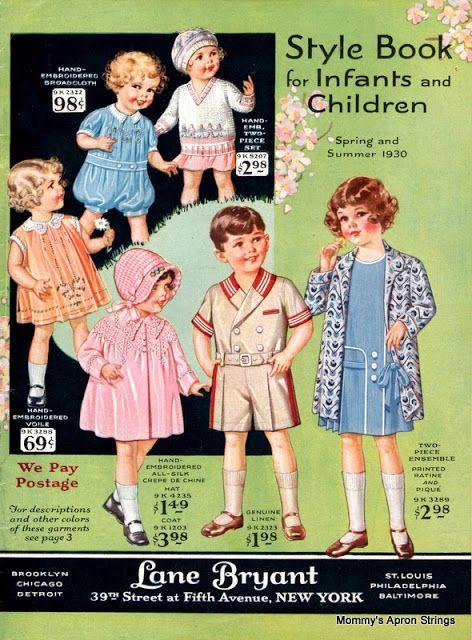 childrens fashion catalog 1930s style vintage children