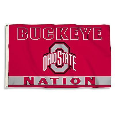 OHIO STATE BUCKEYE NATION 3X5 FLAG