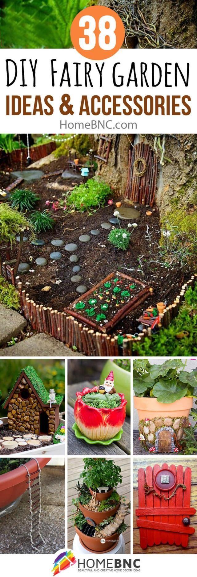 Diy Fairy Garden Accessories 24 Fairy Gardening Pinterest Diy