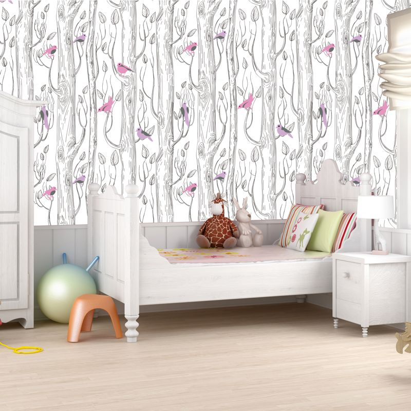 Peelandstick woodland wallpaper from popdecors in a