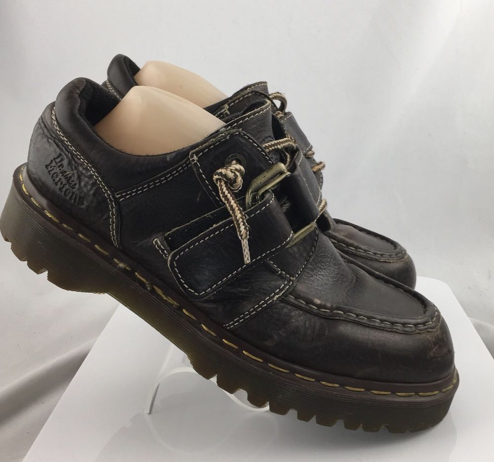 4707de3bd1d Dr Doc Martens 9445 oxford shoes Mens Size 9 Brown Leather lace up hook    loop  DrMartens  Oxfords