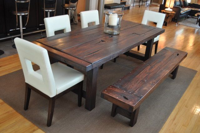 The Clayton Dining Table  Eclectic  Dining Tables  Atlanta Prepossessing Rustic Wood Dining Room Tables Decorating Inspiration