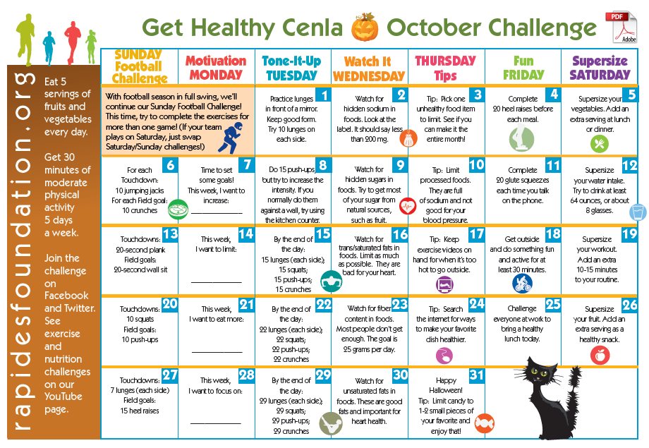 The Rapides Foundation Our Work Get Heathly Cenla Challenge Family Fitness Challenge Family Fitness Workout Challenge