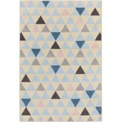 #schlafzimmer benuta Kurzflor Teppich Zola Beige/Blau ...