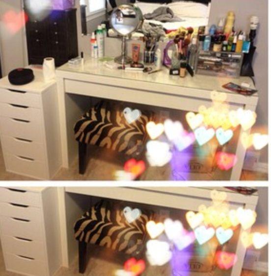 My Happy Place Where The Magic Happens Vanity Glam Vanity Makeup Organization