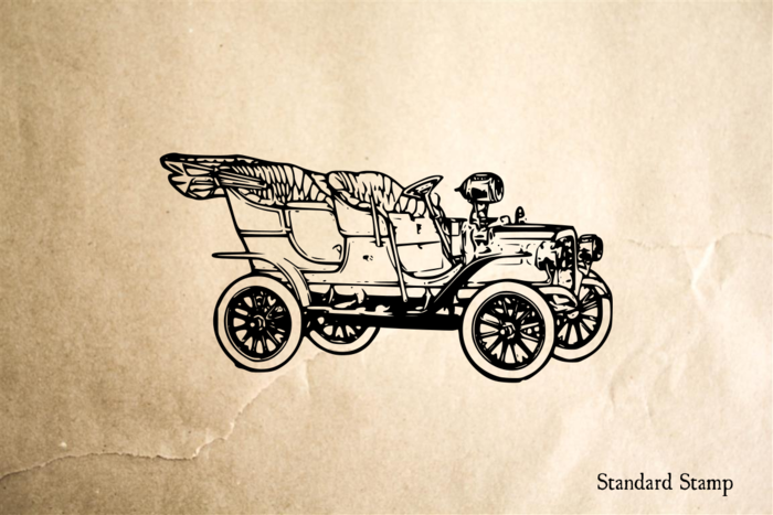 7512a1ae Model T Car Rubber Stamp | The Rubber Stamps | Art bag, Antique cars ...