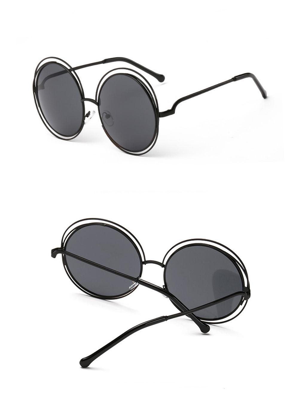 Vintage Round Big Size Oversized lens Mirror Sunglasses