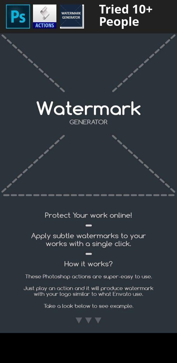 Action Generator Pattern Photoshop Watermark Watermarks