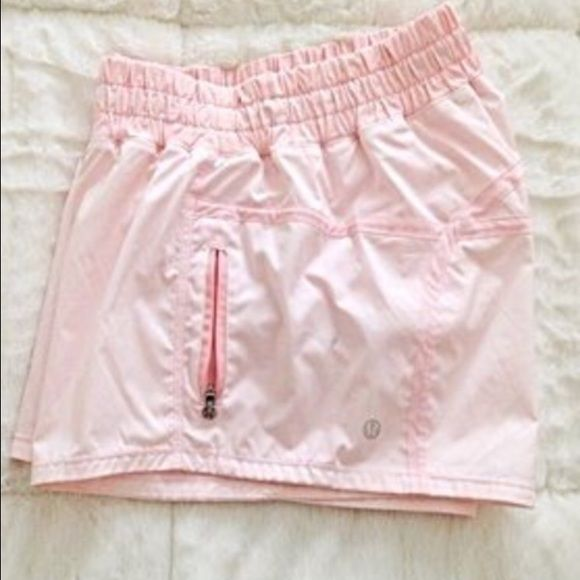 Iso Lululemon Light Pink Tracker Shorts Size 8 Clothes Design Shorts Women Shopping