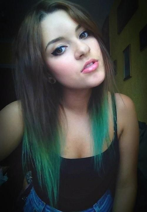 Dyed Tips Tumblr Hair Dye Tips Hair Styles Dip Dye Hair