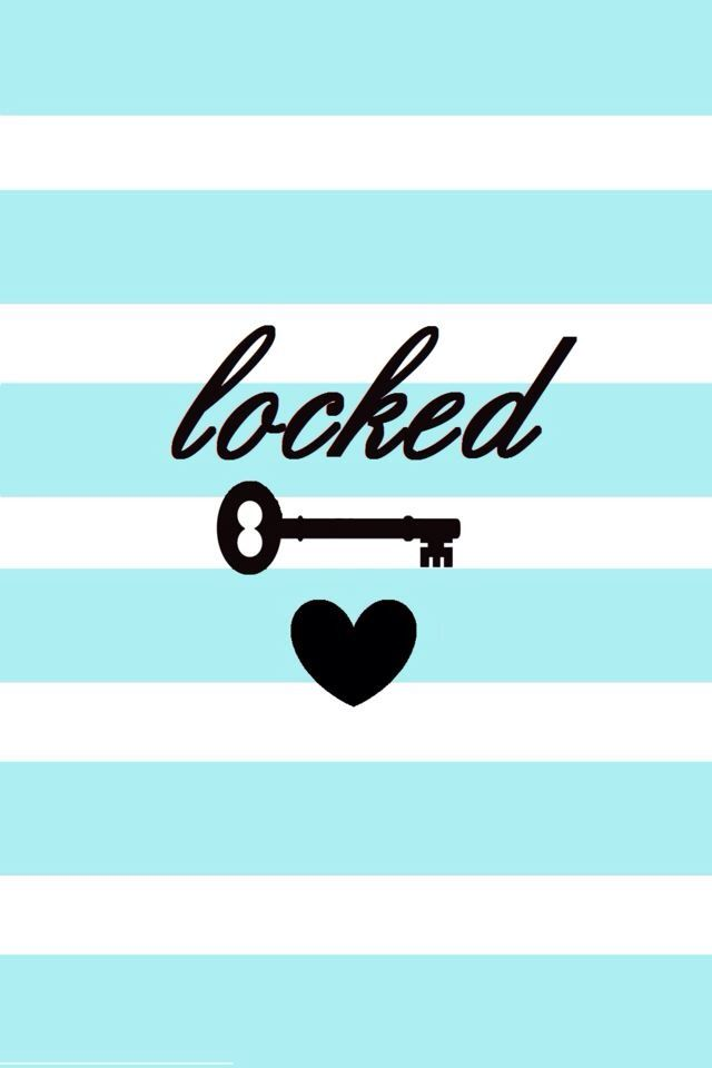 Baby Blue Locked Phone Cute Wallpaper Iphone Background For