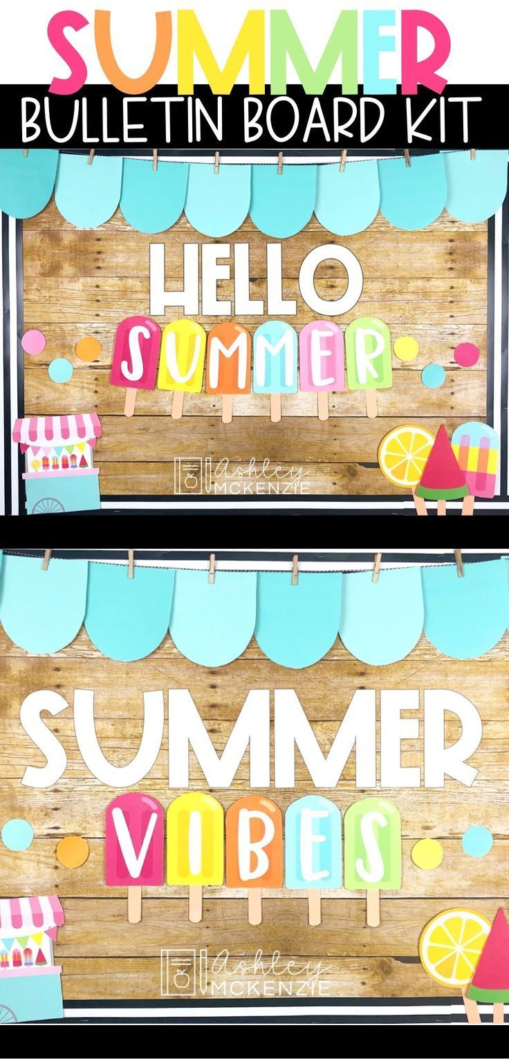 End of the Year Summer Bulletin Board Kit - Popsicle Theme