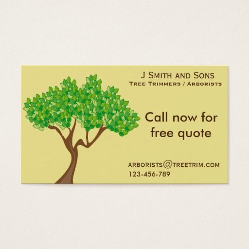 arborist tree trimming service modern design business card tree trimming service tree trimmer business - Tree Service Business Cards