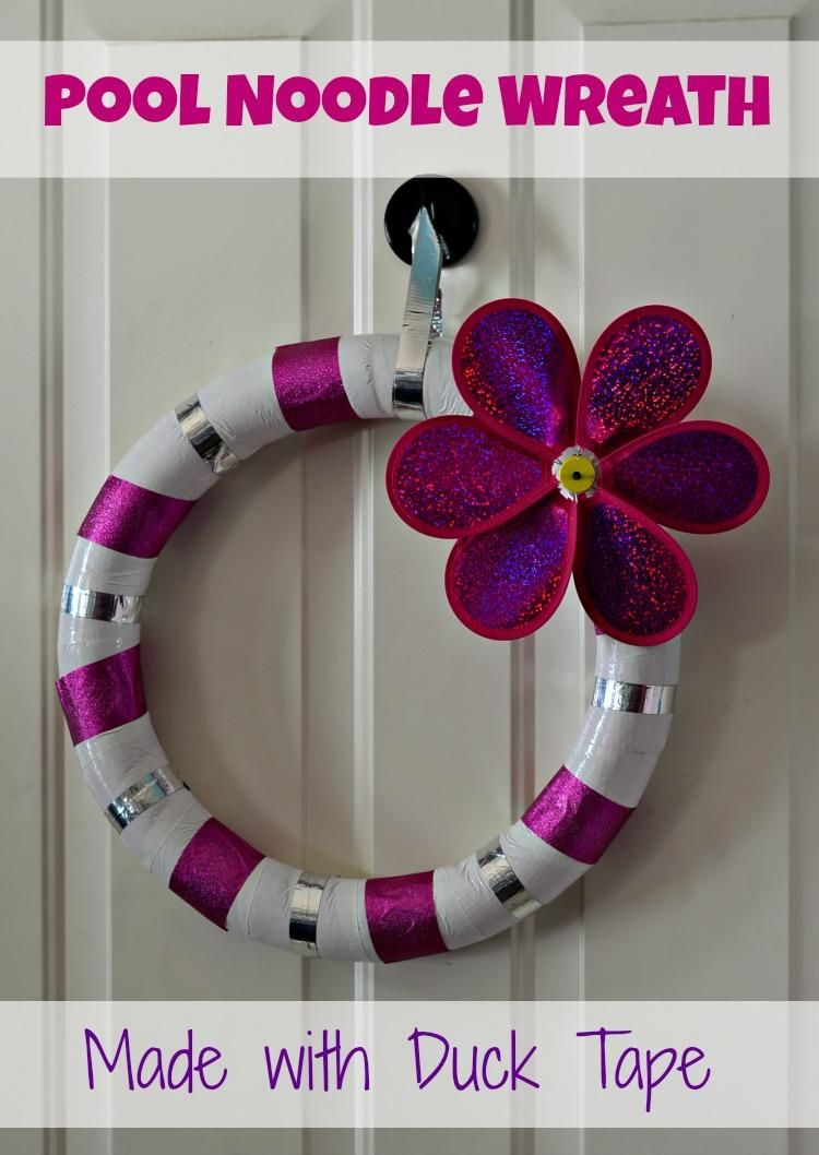 Wreath/Duct Tape - DIY Duck Tape Pool Noodle Wreath #poolnoodlewreath