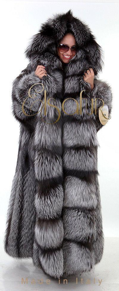 silver fox parka hooded - Google Search   Big beautiful furs ...