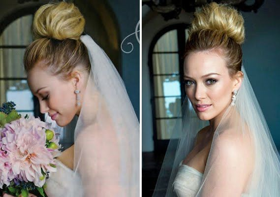 Hilary duff wore her hair in a high tousled voluminous bun at her hilary duff wore her hair in a high tousled voluminous bun at her montecito wedding to mike comrie junglespirit Gallery