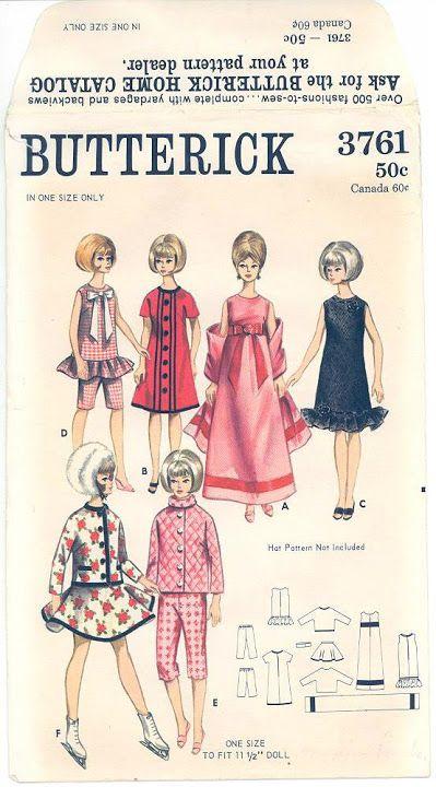 Free Copy of Pattern - Butterick 3761   Barbie Patterns - Butterick ...