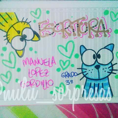 Pin De Maria Rene Chavez Moreno En School Marcar Cuadernos