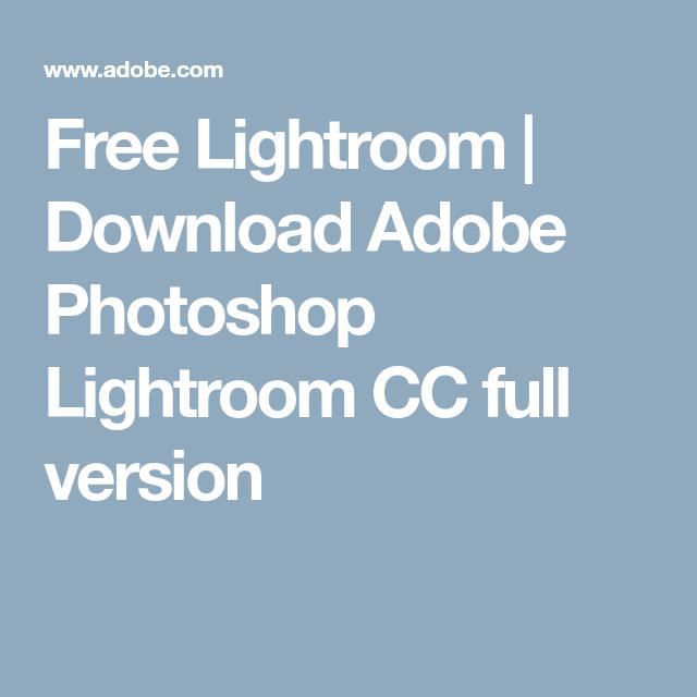 Free trial adobe lightroom