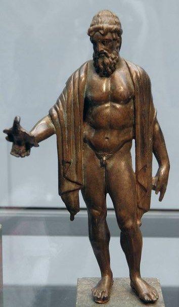 Bronze statuette of Jupiter - Roman period, 2nd c. AD - at the Staatliche Antikensammlungen, Munich