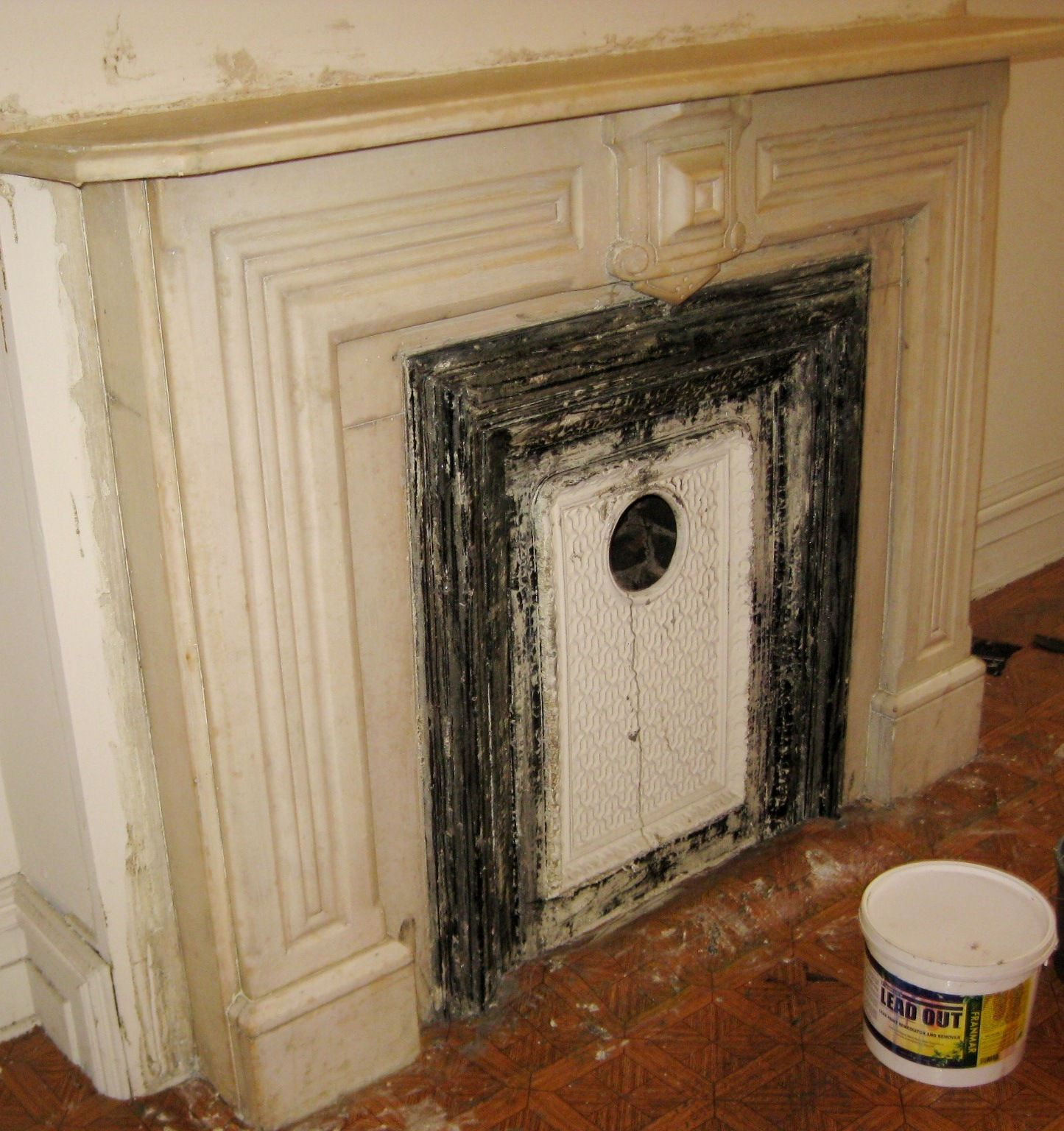 How To Remove Lead Paint From An Antique Fireplace Stripping Paint Painted Mantle Fireplace Mantels