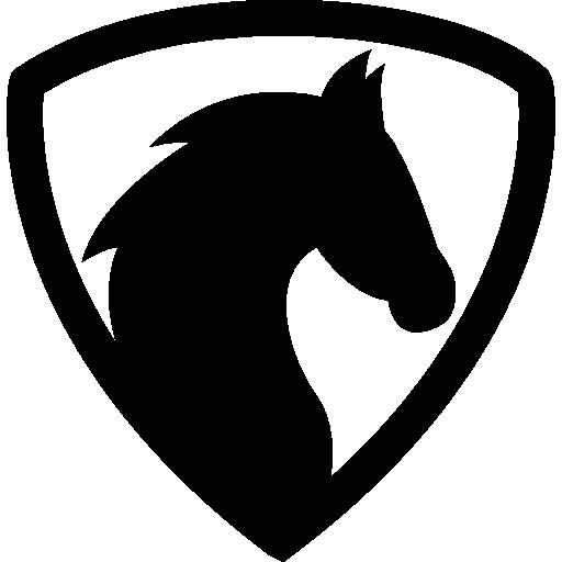 Horse Head With Hair Outline Free Vector Icons Designed By Freepik Horse Logo Design Horse Logo Black Horse