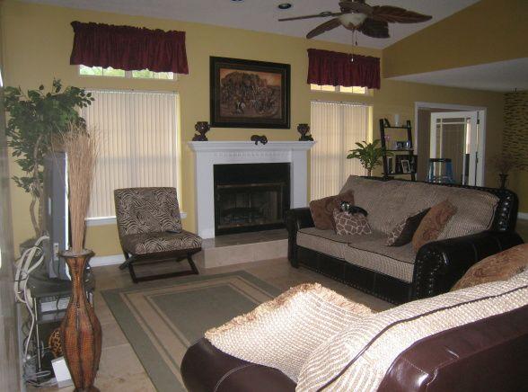 Safari Themed Living Room | Safari Theme   Living Room Designs   Decorating  Ideas   HGTV Rate My .