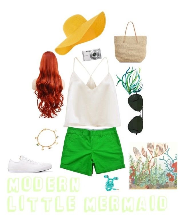"""Modern little mermaid"" by camryn-butler ❤ liked on Polyvore featuring Converse, Bling Jewelry, Cole & Son, Ray-Ban, Accessorize, Sony, Target and modern"