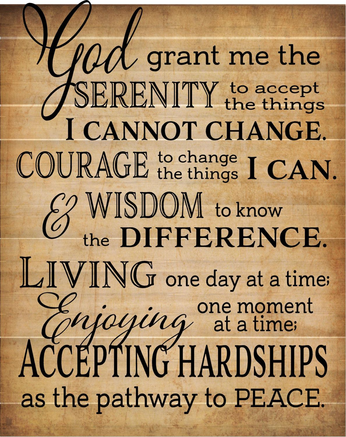 Serenity Prayer Wall Decor as i listened in this morning i received a reminder to focus my