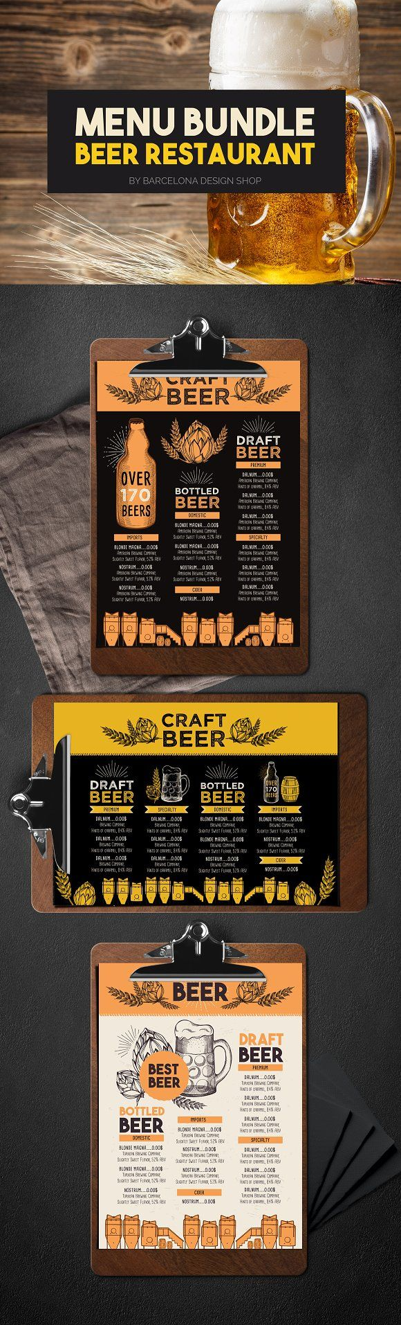 Beer Menu Bundle Freebie  Free Food Illustrations For Your
