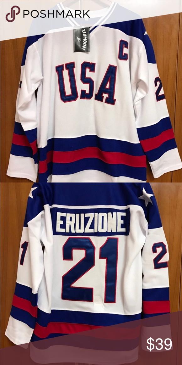 1980 Olympic Hockey Jersey Mike Eruzione 21 C Fnt Featured Is A Mike Eruzione 1980 Team Usa Miracle On Ice Olym Sweatshirt Shirt Custom Jerseys Olympic Hockey
