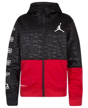 eb8ceb1c8e7d Jordan Big Boys 23 Tech Accolades Colorblocked Zip-Up Hoodie - Red XL  (18 20)