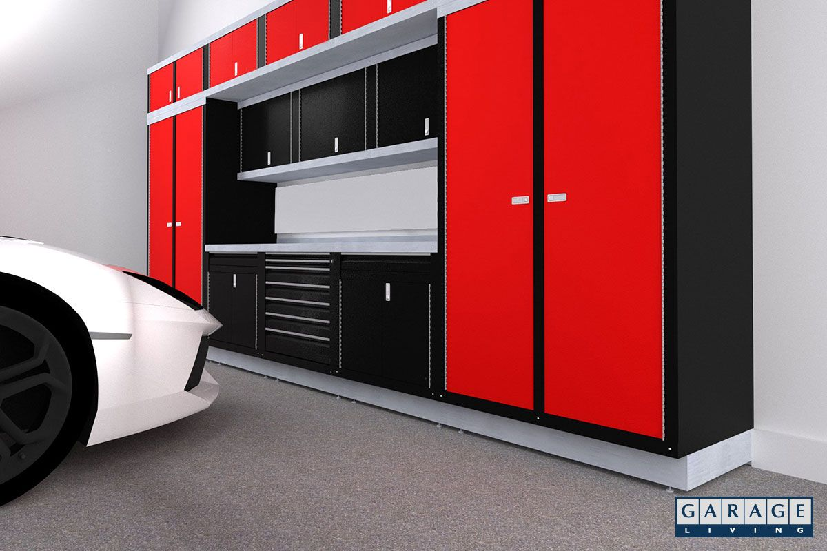 Red Garage Cabinets By Hailey