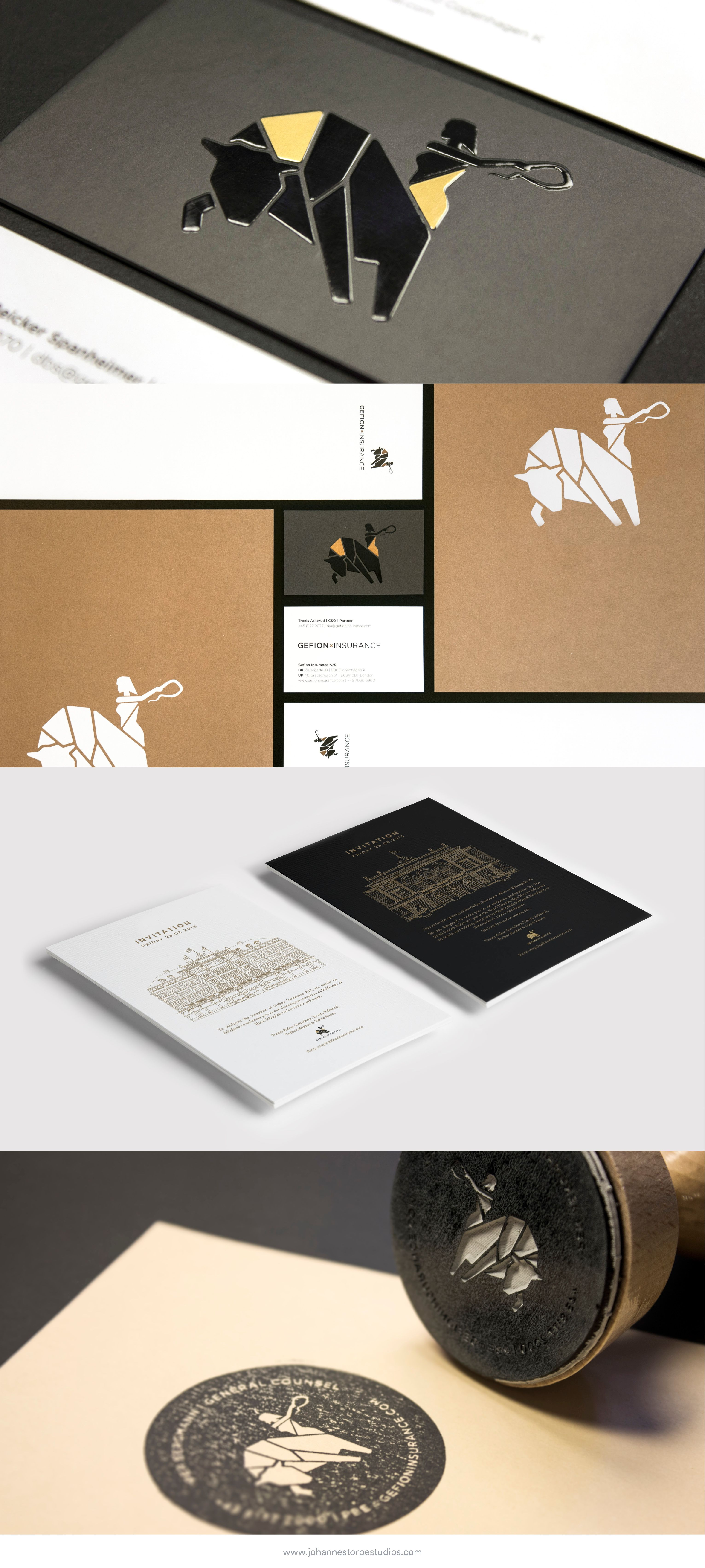 Brand Identity for Gefion Insurance | Brand identity, Business cards ...