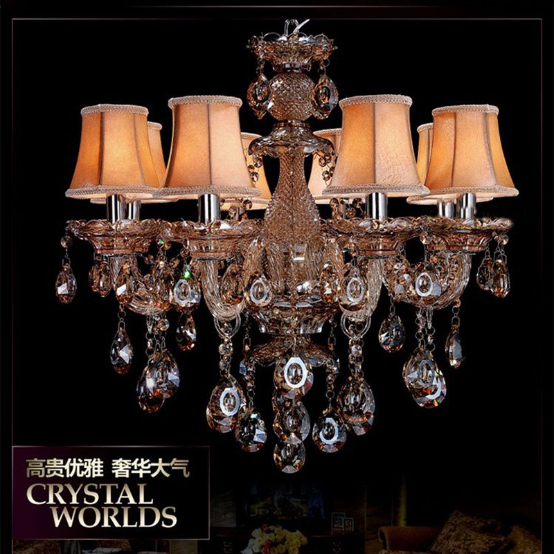 Glass cognac chandelier lamp shades lustres de sala de janta glass cognac chandelier lamp shades lustres de sala de janta candelabro art deco lustre moderne crystal aloadofball Image collections