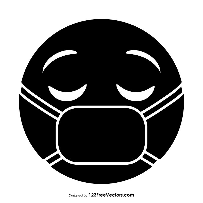 50+ Medical mask clipart black and white ideas
