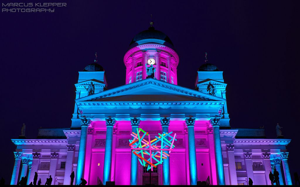 Helsinki Cathedral, LUX Festival 2014, Finland ✯ ωнιмѕу ѕαη∂у
