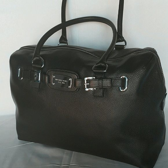 0ee3e79ab35f1d ... buy michael kors hamilton weekender michael kors weekender overnight bag  color black with silver hardware details
