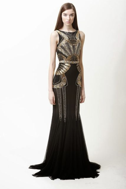 Perfect great gatsby wedding black and gold party dress