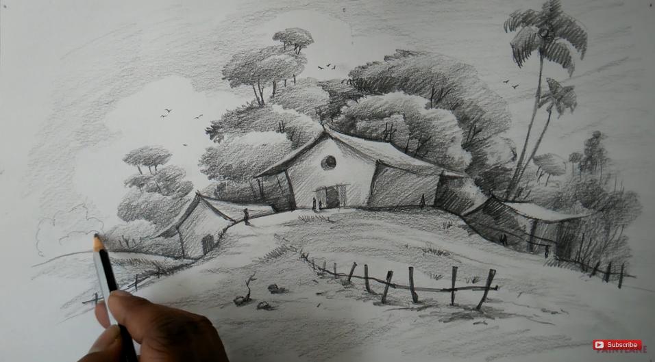 Follow Paintlane Youtube Paintlane Landscape Pencil Drawings Easy Drawings Drawing Scenery