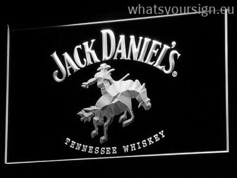 Jack Daniel's Cowboy - LED neon sign made of the first-class quality transparent plastic and intense colorful lighting. The neon sign displays exactly the same from all angles thanks to the carving with the modern 3D laser engraving process. This LED neon sign is a great gift idea! The neon is provided with a metal chain for displaying. Available in 3 sizes in following colours: Green, Red, Orange, White, Yellow, Blue and Purple!