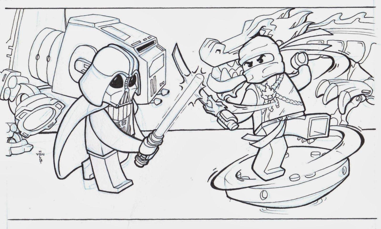 Ausmalbilder Ninjago Schlange 03 Lucius Und Alaric