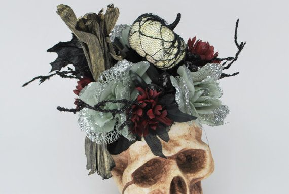 Halloween Halloween Decoration Skull Decor by ThatDreamYouDream - skull halloween decorations