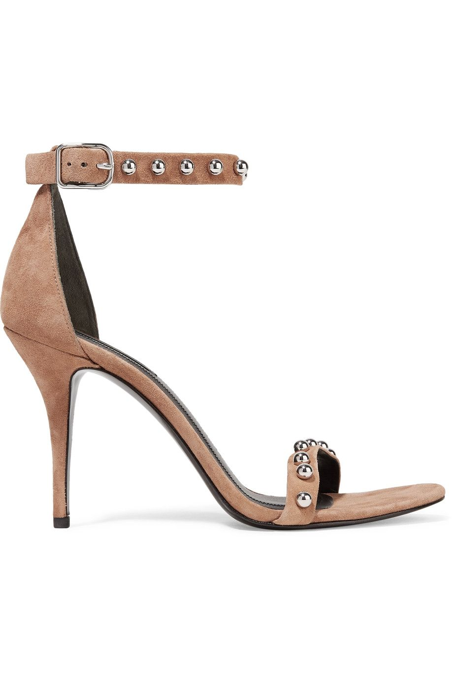f8fe1d2bbc4 Alexander Wang Antonia studded suede sandals.