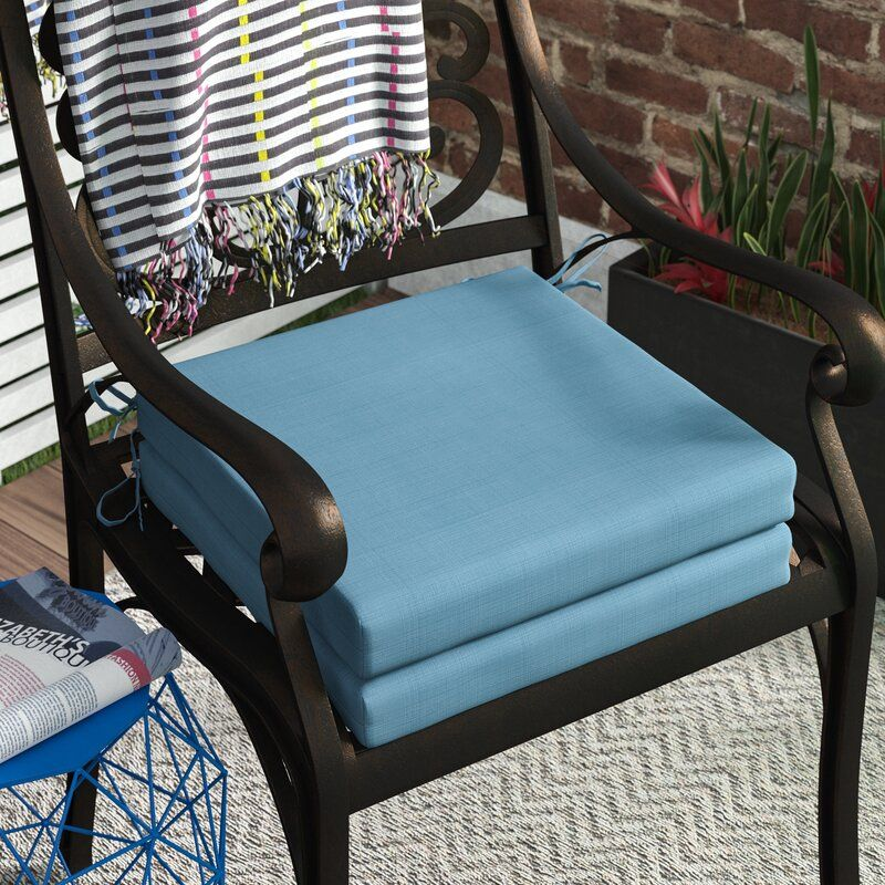 Wrought Studio Indoor/Outdoor Dining Chair Cushion