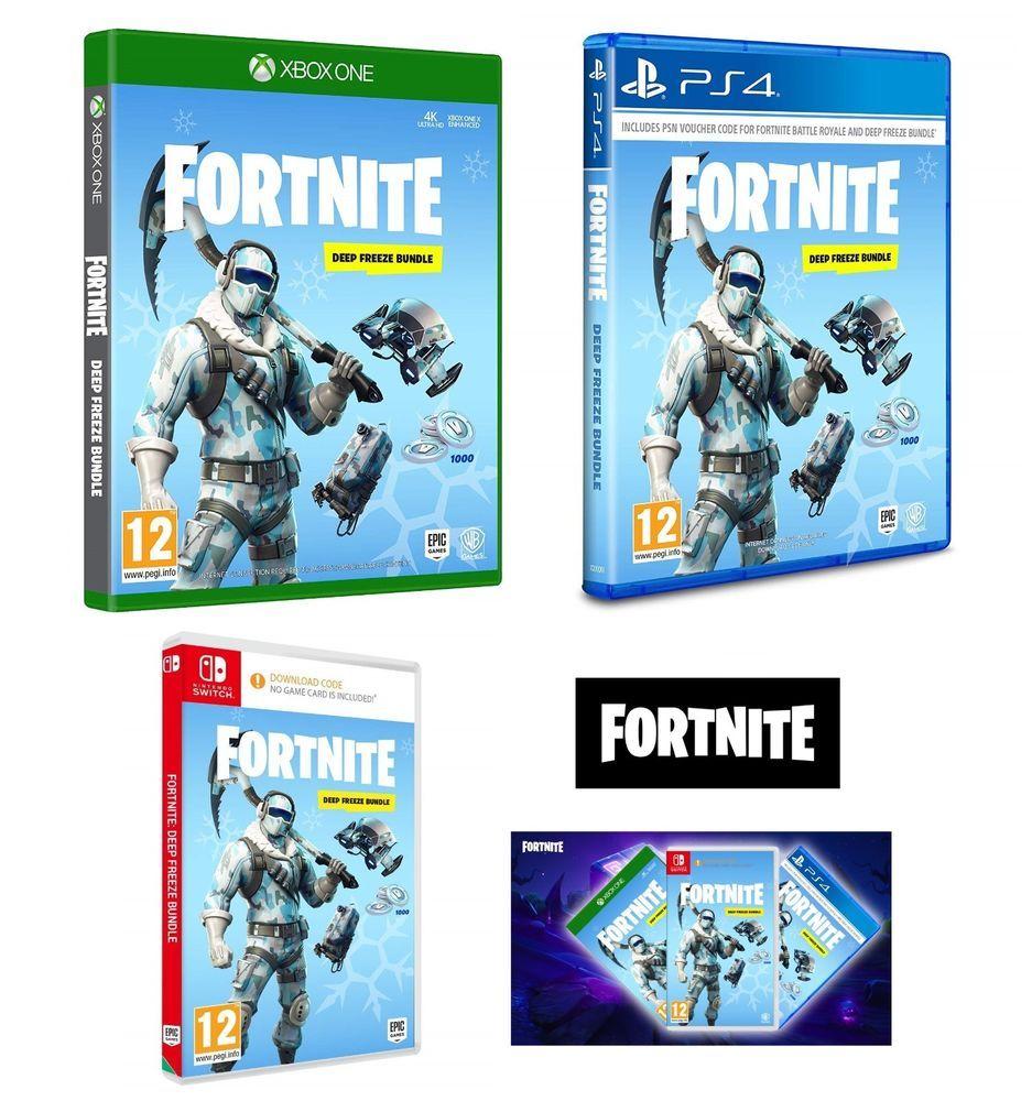 Fortnite Deep Freeze Bundle Ps4 Xbox One Nintendo Switch