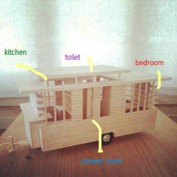 Japan Tiny House 005 600x600 Man In Japan Builds Micro Diy Tiny House On Wheels