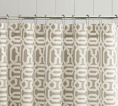 Terri Trellis Shower Curtain Potterybarn 2nd Bath Shower