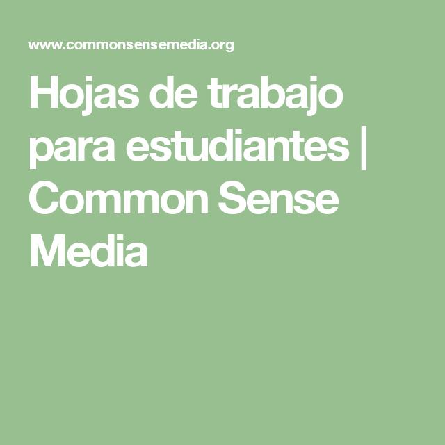 Hojas de trabajo para estudiantes | Common Sense Media | AP - La ...