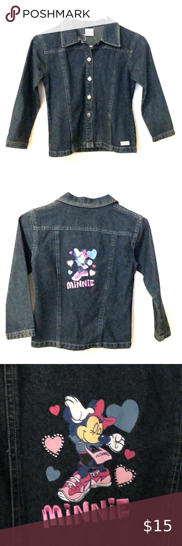 Girl S Minnie Mouse Jean Jacket Jean Jacket Jackets Jean Coat [ 1740 x 580 Pixel ]